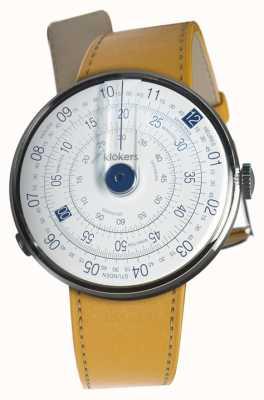 Klokers Klok 01 cinturino blu newport giallo cinturino singolo KLOK-01-D4.1+KLINK-01-MC7.1