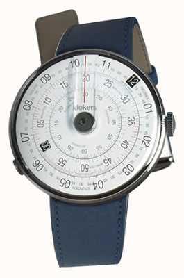 Klokers Klok 01 cinturino doppio orologio blu testa nera indaco KLOK-01-D2+KLINK-02-380C3