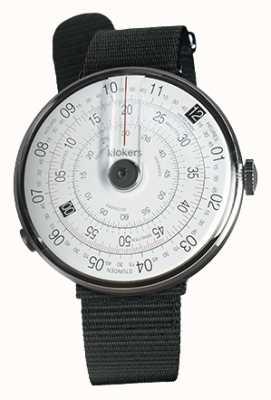 Klokers Klok 01 cinturino nero con cinturino nero per orologio KLOK-01-D2+KLINK-03-MC3