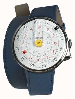 Klokers Klok 01 cinturino giallo blu con doppio cinturino indaco KLOK-01-D1+KLINK-02-380C3
