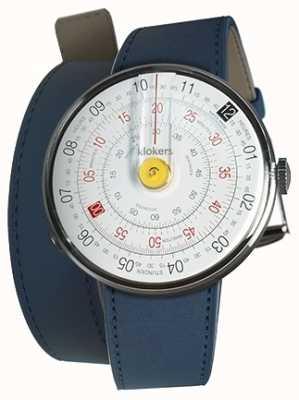 Klokers Klok 01 giallo orologio testa indaco blu 420mm doppio cinturino KLOK-01-D1+KLINK-02-420C3