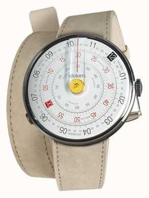 Klokers Klok 01 cinturino giallo per orologio alcantara grigio 420mm doppio cinturino KLOK-01-D1+KLINK-02-420C6