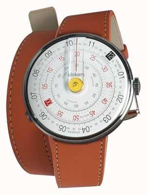 Klokers Klok 01 giallo orologio testa arancio 420mm doppio cinturino KLOK-01-D1+KLINK-02-420C8