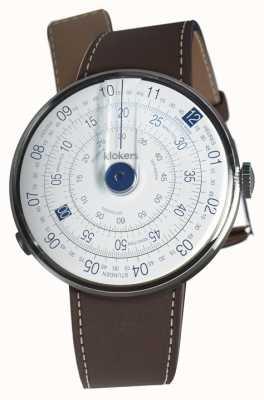 Klokers Klok 01 cinturino blu testa di orologio marrone cioccolato singolo KLOK-01-D4.1+KLINK-01-MC4