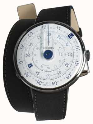 Klokers Klok 01 cinturino orologio blu nero 420mm doppio cinturino KLOK-01-D4.1+KLINK-02-420C2
