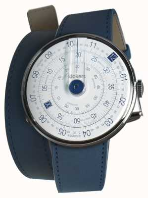 Klokers Klok 01 blu orologio testa indaco blu 420mm doppio cinturino KLOK-01-D4.1+KLINK-02-420C3