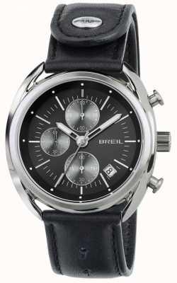 Breil Cinturino in pelle nera cronografo acciaio Beaubourg TW1527