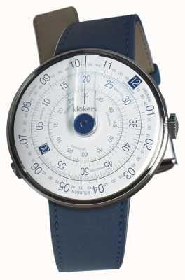 Klokers Klok 01 cinturino blu per orologio blu indaco testa singola KLOK-01-D4.1+KLINK-01-MC3