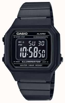 Casio Illuminatore digitale nucleo classico vintage rivestito nero B650WB-1BEF