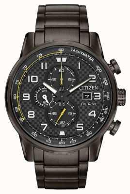 Citizen Bracciale cronografo da uomo con cronografo sportivo grigio CA0687-58E