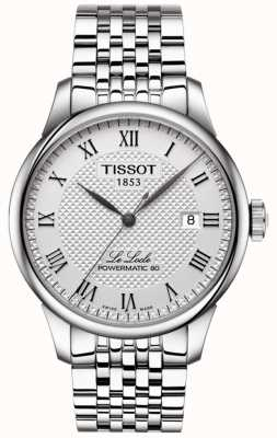 Tissot Mens le locle powermatic 80 orologio automatico in acciaio inossidabile T0064071103300