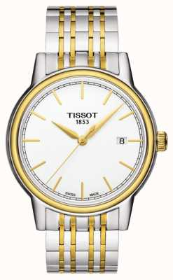 Tissot Carson mens quarzo bicolore data svizzera T0854102201100