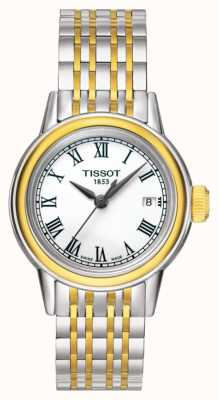 Tissot Carson, donna, quarzo, due tonalità, data svizzera T0852102201100