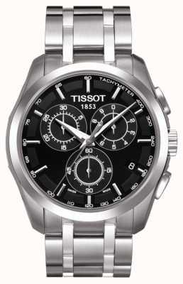 Tissot Mens coutourier cronografo quadrante nero in acciaio inossidabile T0356171105100
