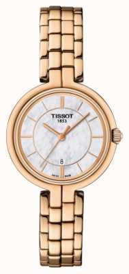 Tissot Quadrante in madreperla placcato oro rosa flamingo T0942103311101