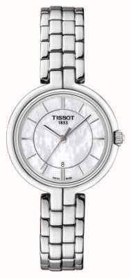 Tissot Quadrante in madreperla in acciaio inossidabile con fenicotteri da donna T0942101111100
