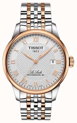 Tissot Mens le locle powermatic 80 bicolore oro rosa placcato T0064072203300