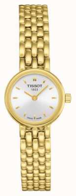 Tissot Quadrante argentato placcato in oro placcato bracciale da donna T0580093303100