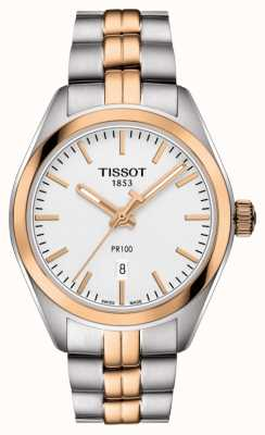 Tissot Donna placcato oro pr100 bicolore con data T1012102203101