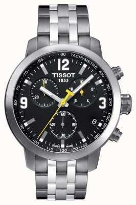 Tissot Mens prc 200 cronografo quadrante nero bicolore T0554171105700
