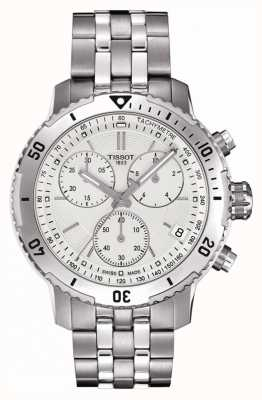 Tissot Mens prs 200 quadrante argento cronografo in acciaio inossidabile T0674171103101