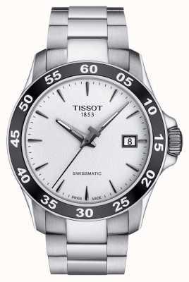Tissot Mens v8 swissmatic quadrante argentato in acciaio inossidabile T1064071103100