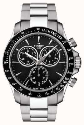 Tissot Quadrante nero in acciaio inossidabile cronografo al quarzo da uomo v8 T1064171105100