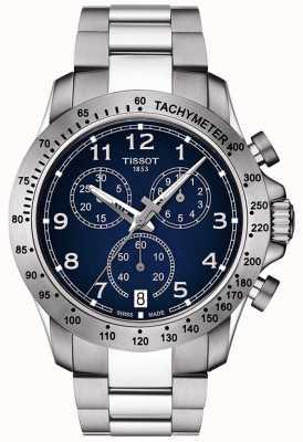 Tissot Cronografo al quarzo da uomo v8 con quadrante blu in acciaio inossidabile T1064171104200