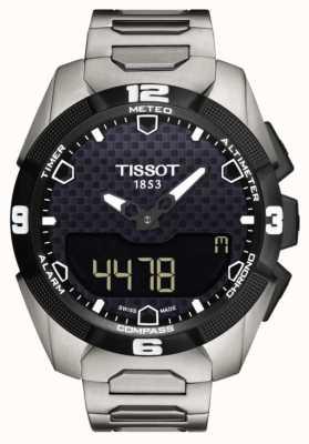Tissot Sensore gemello solare da uomo t-touch esperto in titanio T0914204405100