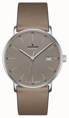 Junghans Forma un cinturino automatico in pelle marrone 027/4832.00