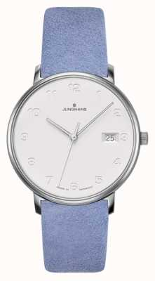 Junghans Forma cinturino in vitello blu chiaro damen 047/4852.00