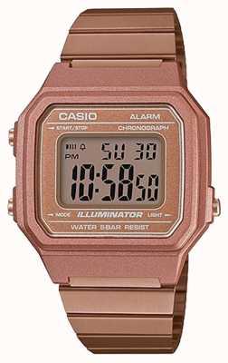 Casio Oro classico classico illuminatore digitale in oro rosa B650WC-5AEF