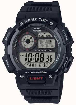 Casio Cronografo allarme mondiale AE-1400WH-1AVEF