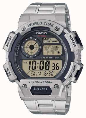 Casio Cronografo allarme mondiale AE-1400WHD-1AVEF