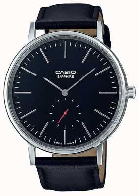 Casio Cinturino in vera pelle color nero zaffiro LTP-E148L-1AEF