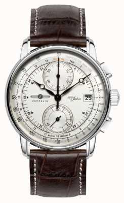 Zeppelin | serie 100 anni | edizione 1 | cronografo color crema | 8670-1