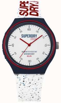 Superdry Cinturino in silicone bianco xl blu urbano SYG227W