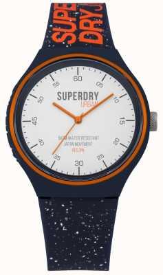 Superdry Cinturino in silicone blu navy urban xl fleck SYG227U