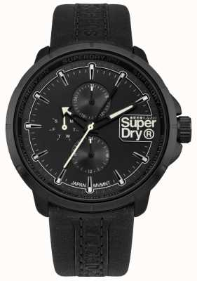 Superdry Quadrante nero con cinturino nero Kyoto SYG218BB