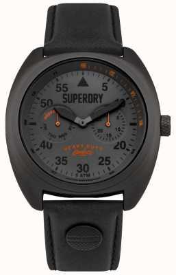 Superdry Cinturino nero per data e giorno aviatore Scout SYG229BB