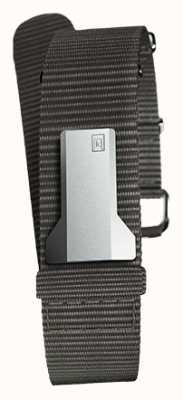 Klokers Cinturino singolo in tessuto nero Klink 03 solo 20mm largo 230mm KLINK-03-MC3
