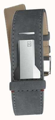 Klokers Klink 04 grigio mouse singolo cinturino dritto solo 22mm di larghezza KLINK-04-LC11