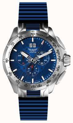 Aviator Quadrante blu con cinturino blu con cinturino per il cronometro M.2.19.0.143.6