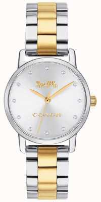 Coach Ladies grand bicolore oro e argento acciaio inossidabile 14503004
