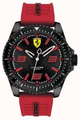 Scuderia Ferrari Cinturino in caucciù rosso con quadrante nero Xx kers 0830498