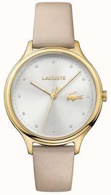 Lacoste Donna constance cristallo set quadrante argentato cassa in oro 2001007