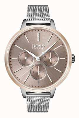 Hugo Boss Cinturino nero con cinturino in oro rosa 1502423
