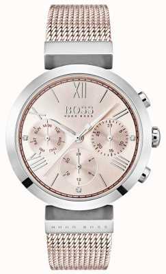 Hugo Boss Cronografo quadrante rosa giorno e data sub quadranti 1502426