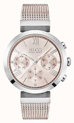 Boss Cronografo quadrante rosa giorno e data sub quadranti 1502426