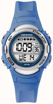 Timex Cinturino blu chiaro con orologio sportivo digitale maratona TW5M14400